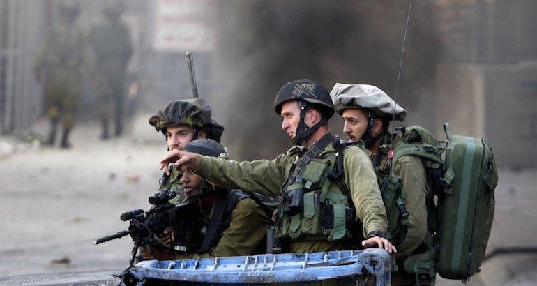 L'armée israélienne en Cisjordanie.
