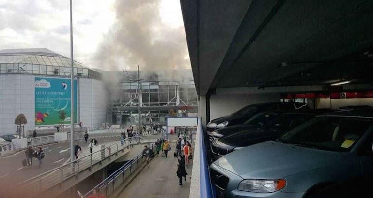 Bruxelles, Des explosions dans l'aéroport et le métro de Bruxelles