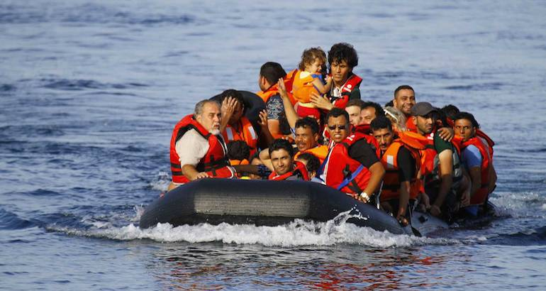 Des migrants arrivent en Grèce