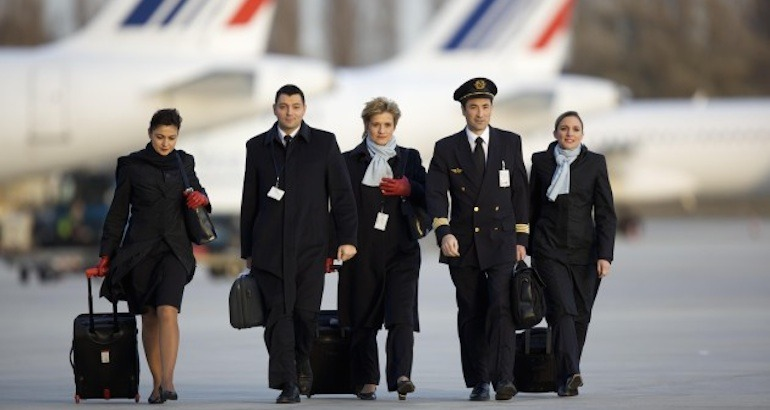 Le personnel navigant d'Air France