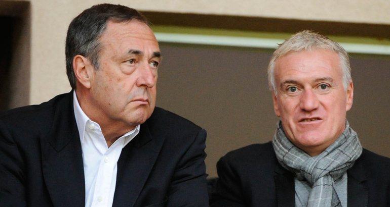 Didier Deschamps et l'agent Bernès.