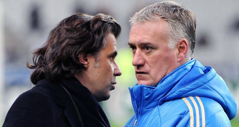 Didier Deschamps et Vincent Labrune.