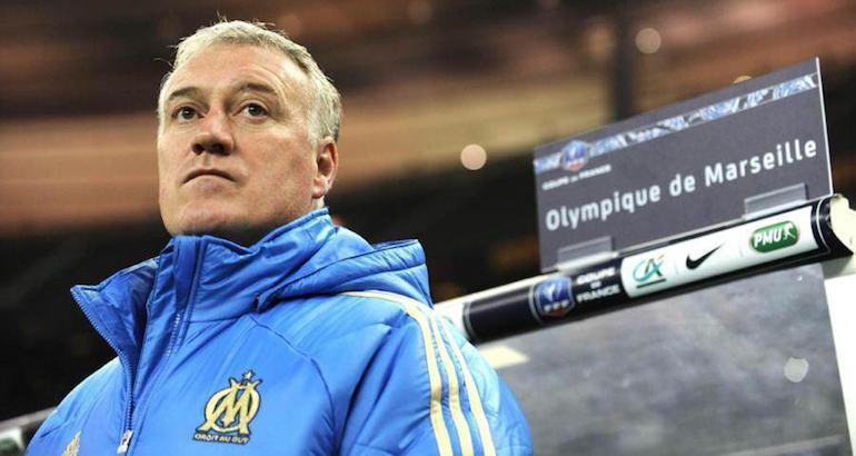 Didier Deschamps alors entraîneur de l'OM.