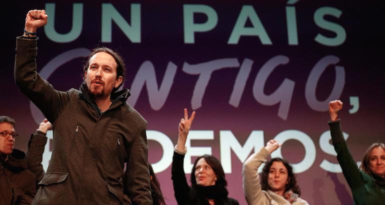 Pablo Iglesias et le mouvement Podemos.