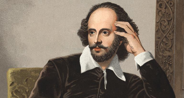 L'écrivain anglais William Shakespeare.