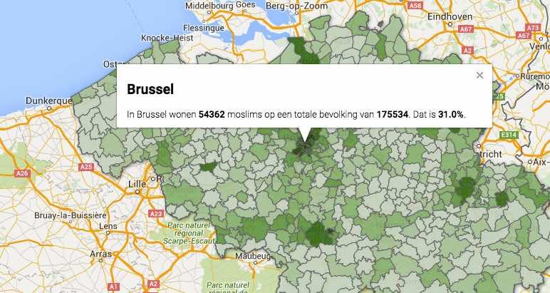 Un journal belge localise, commune par commune, les musulmans.