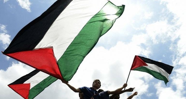 Le drapeau palestinien.