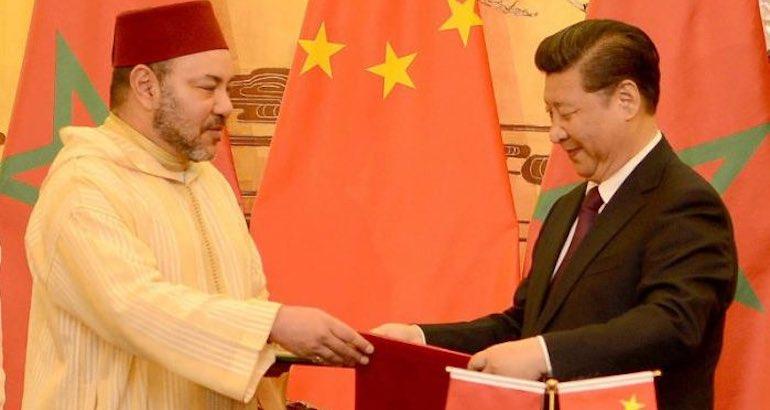 Le roi du Maroc et le président chinois.