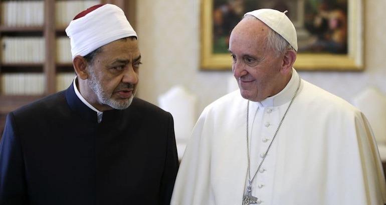 Le pape François et le professeur Ahmed al-Tayeb