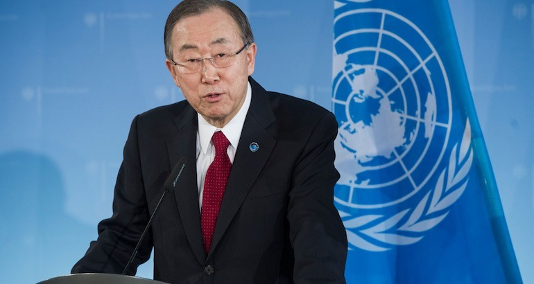 Le secrétaire général de l'ONU.