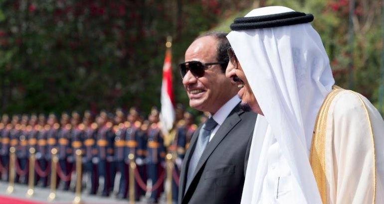 Le président égyptien et le roi saoudien.