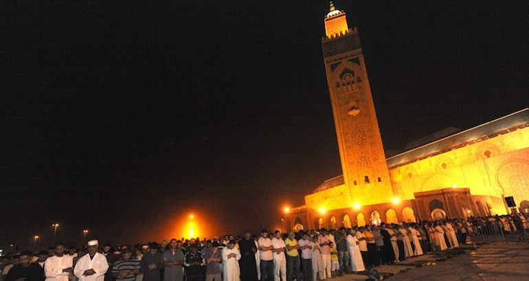 La mosquée Hassan II au Maroc