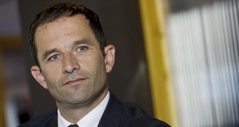 Candidat à la primaire de gauche, Benoît Hamon.