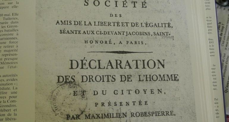 La déclaration des droits de l'Homme a 227 ans.