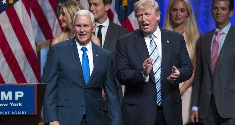 Mike Pence, colistier de Trump, confirme que le candidat a laissé tomber sa proposition d'interdire l'entrée des musulmans aux Etats-Unis.
