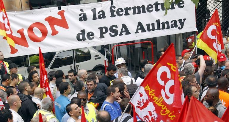 Fermeture de l'usine PSA en 2013.