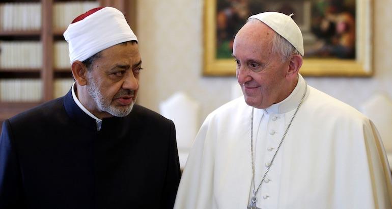 Le pape François et le cheikh al-tayeb