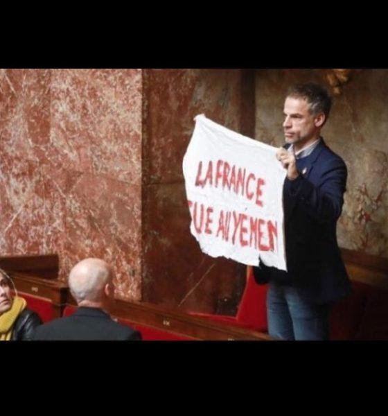 , A l'Assemblée, un député a brandi une banderole «la France tue au Yémen»