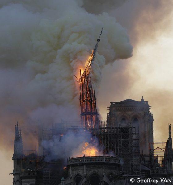 , La cathédrale Notre-Dame de Paris dévastée par un incendie